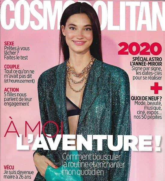 COSMOPOLITAN n°553 décembre 2019  A moi l'aventure!/ Astro 2020/ irina Shayk/ Coulisses du Crazy Horse/ Quoi de neuf en 2020?