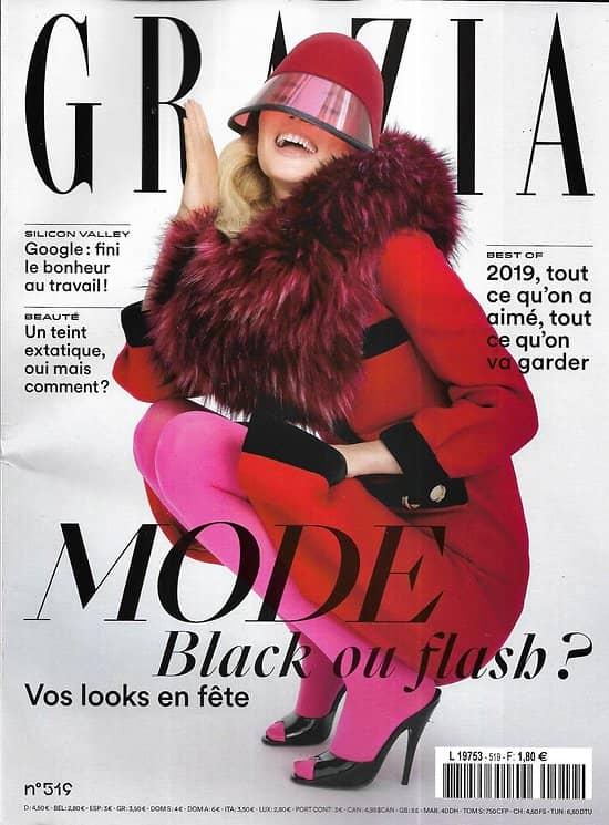 GRAZIA n°519 13/12/2019  Vos looks en fête/ Best of 2019/ Saoirse Ronan/ L'art de Chanel/ Google