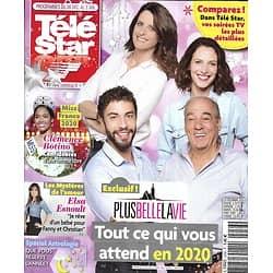 "TELE STAR n°2256 28/12/2019  ""Plus belle la vie""/ Miss France 2020/ Elsa Esnoult/ Scarlett Johansson/ Vitaa/ Gad Elmaleh & Philippe Lellouche"