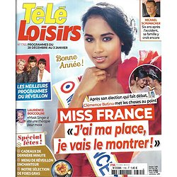 TELE LOISIRS n°1765 28/12/2019  Miss France 2020 Clémence Botino/ Etchebest/ Kev Adams/ Garou/ Cathédrales