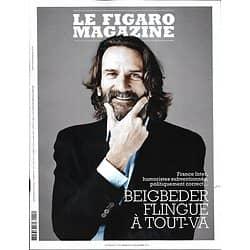 LE FIGARO MAGAZINE n°23441 27/12/2019  Frédéric Beigbeder flingue à tout-va/ Willam Blake, le possédé/ Princes de la fauconnerie/ Californie, sur la route des vins français