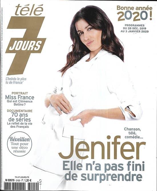 """TELE 7 JOURS n°3109 28/12/2019  Jenifer/ Miss France/ Juliette Binoche/ Anna Karina/ """"La Guerre des mondes""""/ 70 ans de séries/ Philippe Lellouche"""
