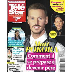 """TELE STAR n°2257 04/01/2020  Matt Pokora/ Laetitia Casta/ Jean Dujardin/ Julie de Bona/ Kristen Stewart/ """"Mariés au premier regard"""""""