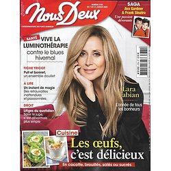 NOUS DEUX n°3784 07/01/2020  Lara Fabian/ Ava Gardner & Frank Sinatra/ Cuisine: les oeufs/ Vive la luminothérapie