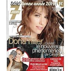 """TELE 7 JOURS n°2796 28/12/2013  Doria Tillier/ Garou/ """"Elementary""""/ Sébastien Dupuis/ Les Inconnus/ De Funès & Montand"""