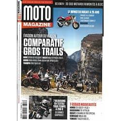 MOTO MAGAZINE n°347 mai 2018  Comparatif Gros Trails/ Blousons tous temps/ Monster Ducati/ Honda CB 1000 R/ Husqvarna Vitpilen 701