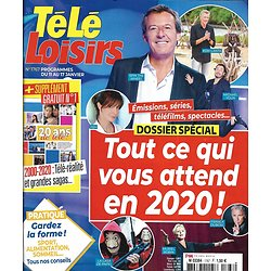 TELE LOISIRS n°1767 11/01/2020  Tout ce qui vous attend en 2020/ Télé-réalité & grandes sagas/ Julien Courbet/ Elodie Gossuin