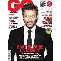 GQ n°35 janvier 2011  Hugh Laurie/ L'art de faire la gueule/ Booba/ Arielle Dombasle/ Red Bull/ Trafic d'armes/ Bombes de 2011