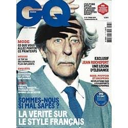GQ n°37 mars 2011  Jean Rochefort/ L'élégance à la française/ Jeff Bridges/ Idées reçues hommes-femmes/ Biohackers/ Pio Marmaï