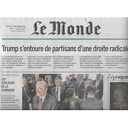 LE MONDE n°22349 21/11/2016  Primaire de la droite/ Djibouti, stratégique/ Collection Ladreit/ Trump & droite radicale/E-sport