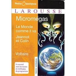 """""""Micromégas""""/ """"Le monde comme il va""""/ """"Jeannot et Colin"""" Voltaire/ Excellent état/ Livre poche"""