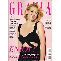 GRAZIA n°521 10/01/2020  Ludivine Sagnier/ Psycho astro/ IVG/ La folie clean beauty/ Springora-affaire Matzneff/ Eric Rohmer/ Lupita Nyong'o