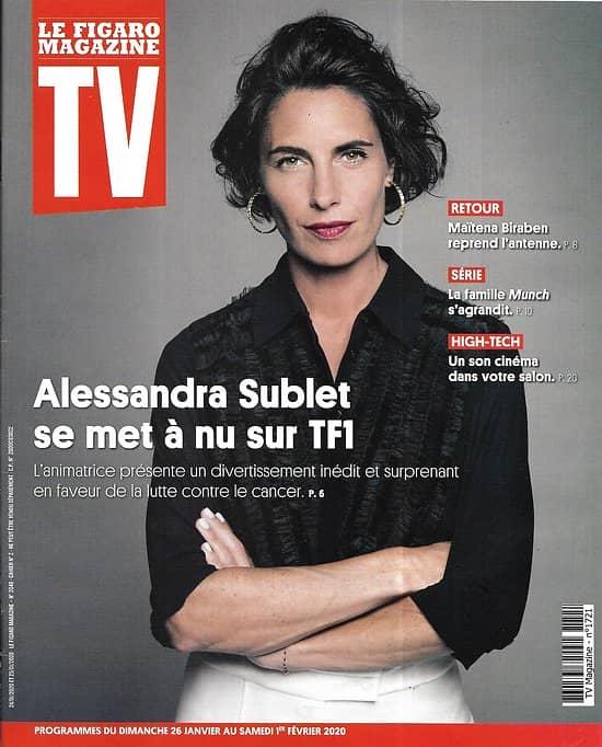 "TV MAGAZINE 26/01/2020 n°1721  Alessandra Sublet se met à nu sur TF1/ Maïtena Biraben/ ""Star Trek-Picard""/ ""Munch"""