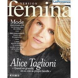VERSION FEMINA n°929 20/01/2020  Alice Taglioni/ Prix Solidarité/ Mode printemps-été 2020/ / L'inflammation/ Recettes de poulet