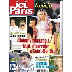 ICI PARIS n°3869 28/08/2019  Les Hallyday/ Stéphane Plaza/ Alexandra Lamy/ Nicolas Bedos/ Henri Sannier/ festival d'Angoulême