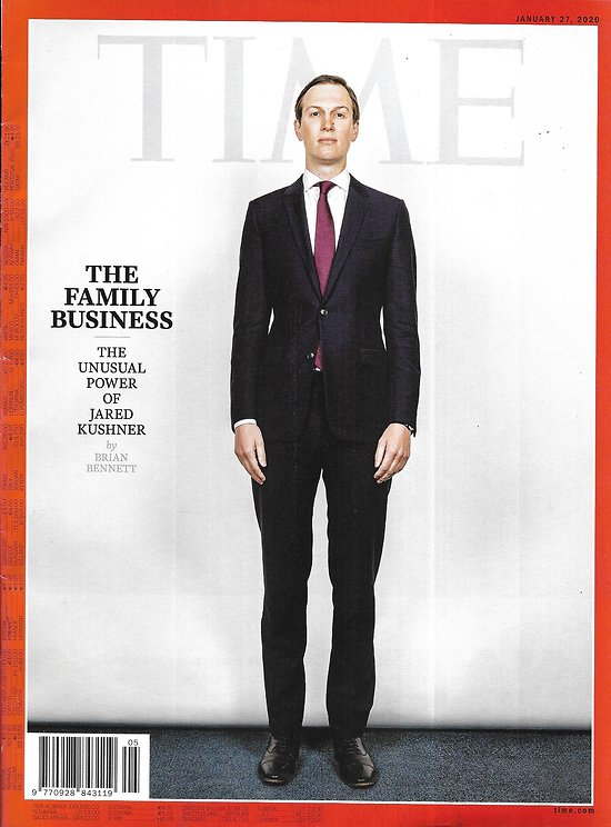 TIME VOL.195 n°2 27/01/2020  The unusual power of Jared Kushner/ Environment: Oil change/ Sleepless generation
