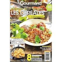 GOURMAND n°441 15/01/2020  Les céréales en accompagnement/ Crêpes & pancakes/ Recettes à la banane/ La vraie carbonnade