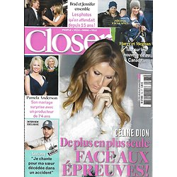 "CLOSER n°763 24/01/2020  Céline Dion/ Harry & Meghan/ Brad Pitt & Jennifer Aniston/ Antony ""The Voice/ Pamela Anderson"