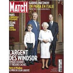 PARIS MATCH n°3690 23/01/2020  L'argent des Windsor/ Céline Dion, adieu à sa mère/ Bidonville à Paris/ Charlize Theron/ Affaire Matzneff