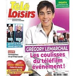 TELE LOISIRS n°1771 08/02/2020  Grégory Lemarchal/ Yann Barthès vs Hanouna/ Saint-Exupéry/ Télé écoresponsable