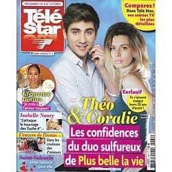 """TELE STAR n°2262 08/02/2020  Coralie Audret & Jules Fabre """"PBLV""""/ Miss France/ Richard Gere/ Anne Hathaway/ Coluche & de Funès"""
