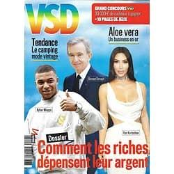 VSD n°2141 août 2019  Comment les riches dépensent leur argent/ Le camping vintage/ Aloe Vera, l'or vert/ Saga Renault Twingo/ Victor Hugo/ Roger Daltrey