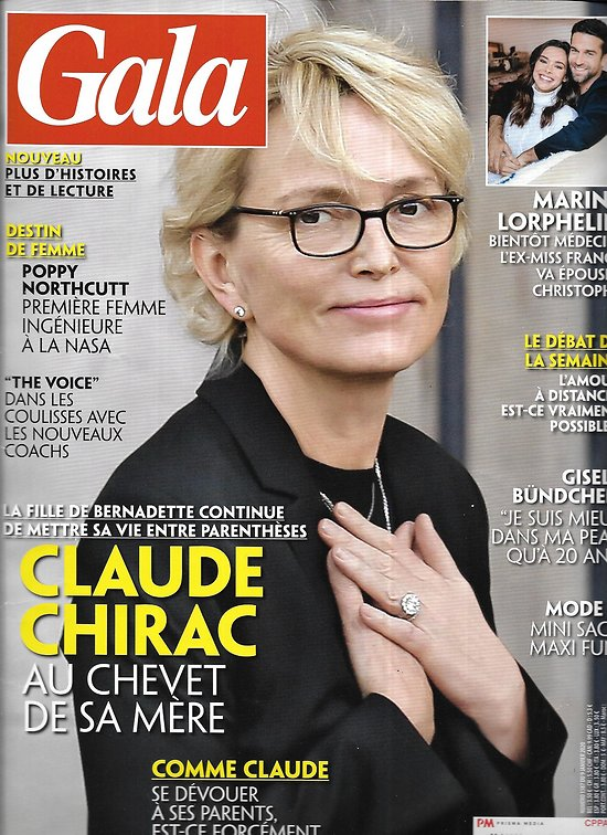 "GALA n°1387 09/01/2020  Claude Chirac/ Marine Lorphelin/ George Michael/ ""The Voice""/ David Bowie/ Charlize Theron"