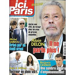 ICI PARIS n°3877 23/10/2019  Alain Delon/ Michel Sardou/ Kate & William/ Benjamin Castaldi/ Sophie Darel/ Diane Tell