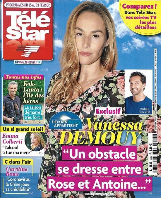"TELE STAR n°2263 15/02/2020  Vanessa Demouy ""Demain nous appartient""/ ""Koh-Lanta""/ Corinne Masiero/ Emma Colberti/ Camille Combal"