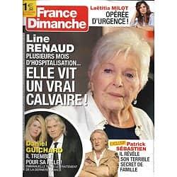 FRANCE DIMANCHE n°3822 29/11/2019  Line Renaud/ Daniel Guichard/ Laëtitia Milot/ Patrick Sébastien/ Olivier de Kersauson