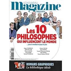 LE NOUVEAU MAGAZINE LITTERAIRE n°25 janvier 2020  Les 10 philosophes qui influencent le monde/ Romans graphiques/ vanessa Springora/ Denis Roche/ Jean Giono