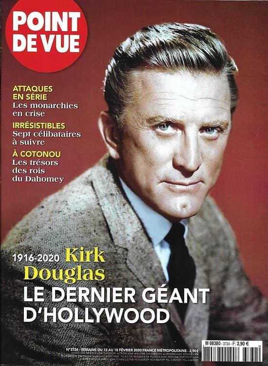 POINT DE VUE n°3734 12/02/2020   Kirk Douglas, 1916-2020, le dernier géant d'Hollywood