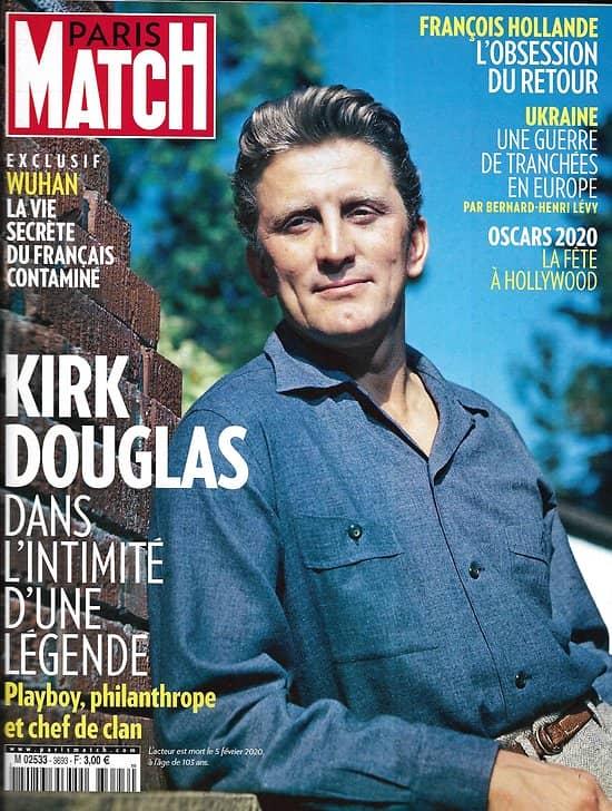 PARIS MATCH n°3693 13/02/2020  Kirk Douglas, dans l'intimité d'une légende/ Oscars 2020, fête à Hollywood/ Donbass, guerre de tranchées