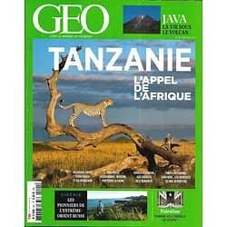 GEO n°491 janvier 2020  Tanzanie: l'appel de l'Afrique/ Java, la vie sous un volcan/ Sibérie, les pionniers/ Rabawi, ovni de Palestine