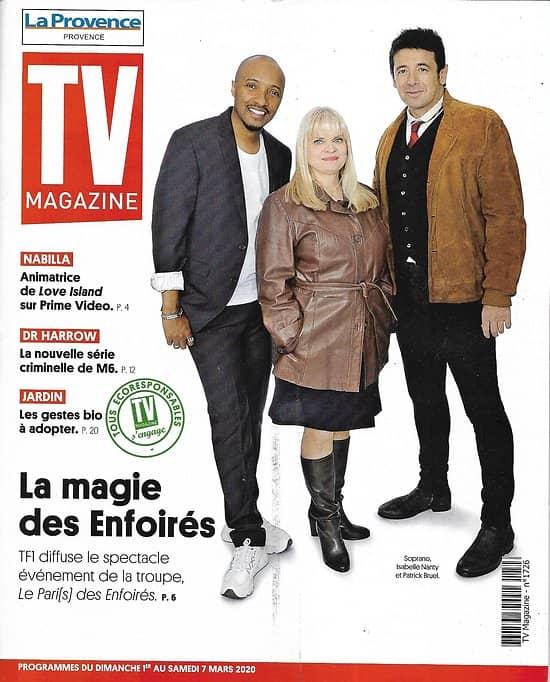 TV MAGAZINE 01/03/2020 n°1726  La magie des Enfoirés: Soprano, Patrick Bruel & Isabelle Nanty