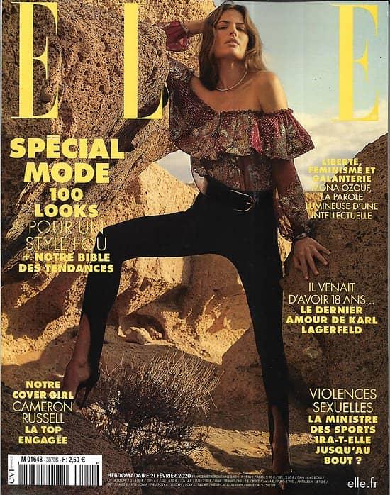 ELLE n°3870 21/02/2020  Spécial mode avec Cameron Russell/ Giabiconi & Lagerfeld/ Louboutin/ Ozouf