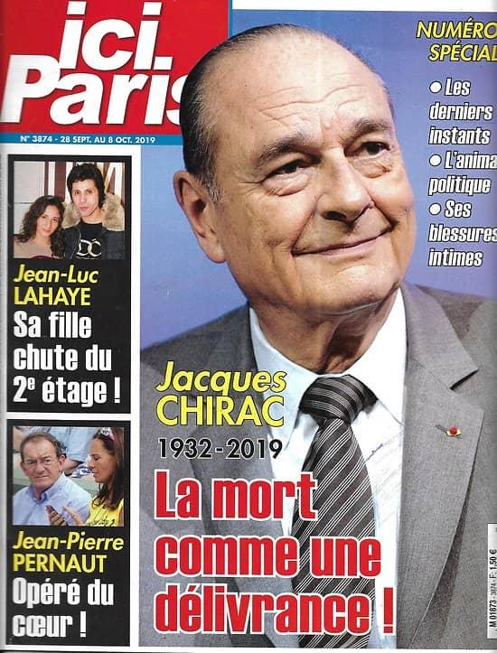 ICI PARIS n°3874 28/109/2019  Hommage à Jacques Chirac, numéro spécial/ Dave/ Harry & Meghan