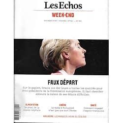 LES ECHOS WEEK-END n°189 31/10//2019  Ursula von der Leyen/ La viande végétale/ Films de gangsters/ Voyager l'esprit tranquille
