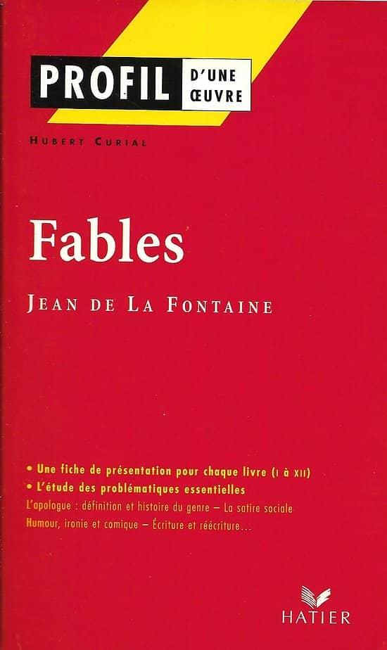 """""""Profil d'une oeuvre: Fables de Jean de La Fontaine/ Très bon état/ Livre poche"""