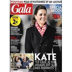 GALA n°1393 20/02/2020  Kate Middleton/ Grégory Lemarchal/ Spécial mode à Las Vegas/ Fils de Sophie Marceau
