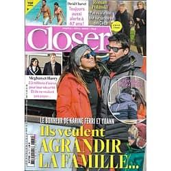 CLOSER n°769 06/03/2020  Karine Ferri & Yoann Gourcuff/ Roman Polanski/ Meghan & Harry/ David Charvet/ Camille Cerf/ Virus parano