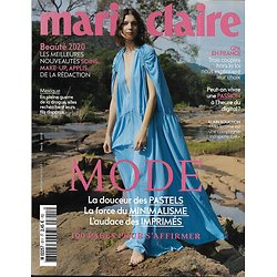 MARIE CLAIRE n°811 mars 2020  Spécial mode/ Kati Nescher/ Alain Souchon/ GPA/ Passion 2.0/ Meilleur de la beauté 2020