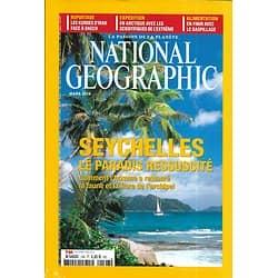 NATIONAL GEOGRAPHIC n°198 mars 2018  Seychelles, le paradis ressuscité/ Gaspillage alimentaire/ Kurdes d'Irak/ Fonte des glaces en Arctique