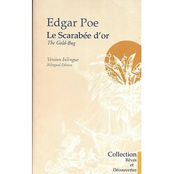 """Le scarabée d'or"" Edgar Poe/ Version bilingue/ 2003/ Rare/ Livre poche"