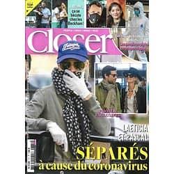 CLOSER n°771 20/03/2020  Laeticia Hallyday/ Les stars en pleine coronapocalypse/ Les Beckham/ Spécial cheveux