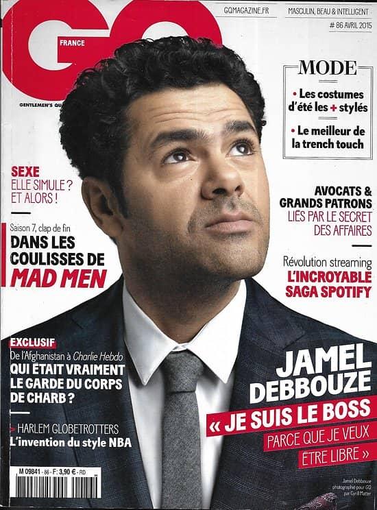 """GQ n°86 avril 2015  Jamel Debbouze/ """"Mad Men"""" clap de fin/ La binge culture ou la vie en illimité/ Les avocats d'affaires/ Hôtels d'exception"""