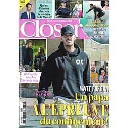 CLOSER n°772 27/03/2020  M.Pokora/ Ces stars qui fuient la quarantaine/ Olivier Véran/ Ben Affleck