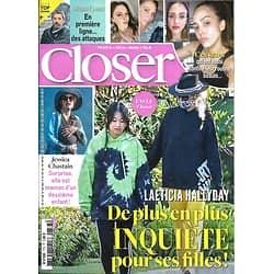 CLOSER n°773 03/04/2020  Laeticia Hallyday/ Michel Cymes/ Jessica Chastain/ Fanny Leeb/ Ces stars ont confiné leur routine beauté
