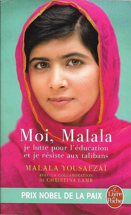 """""""Moi, Malala, je lutte pour l'éducation et je résiste aux talibans"""" Malala Yousafzaï/ Prix Nobel de la Paix/ Livre poche"""