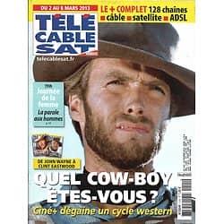 Télé Cable Sat n°1191 02/03/2013  Clint Eastwood/ Gueules de Western/ Goldman/ Agnès Jaoui